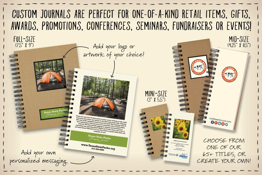 Custom Journals -Customized Journals printed in the USA.  Both Wholesale custom journals and retail custom journals.